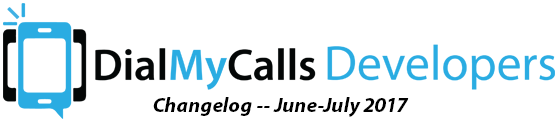 DialMyCalls Changelog -- June-July 2017