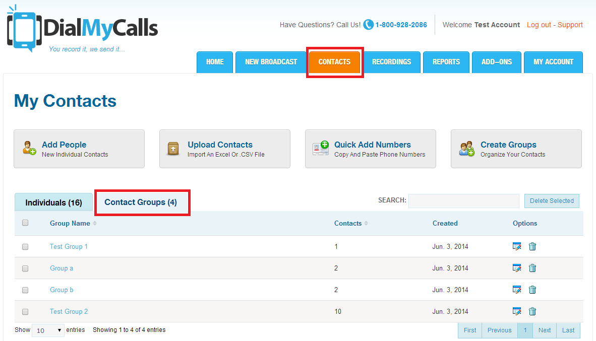 DialMyCalls How To: Create User Permissions For Contact Groups