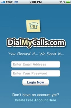 DialMyCalls How To: Send Free Voice Messages With iPhone App