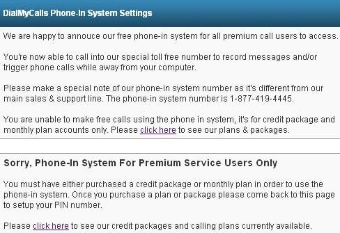dmc phone in system