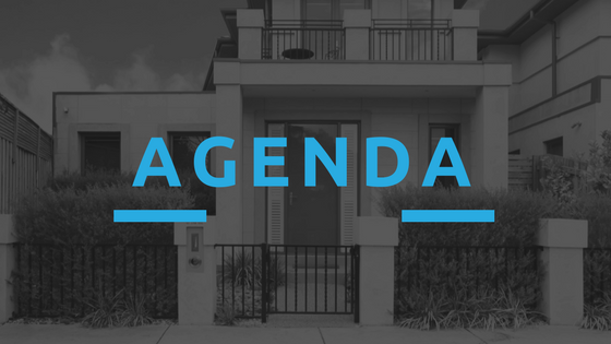 HOA Meeting Tips - Agenda