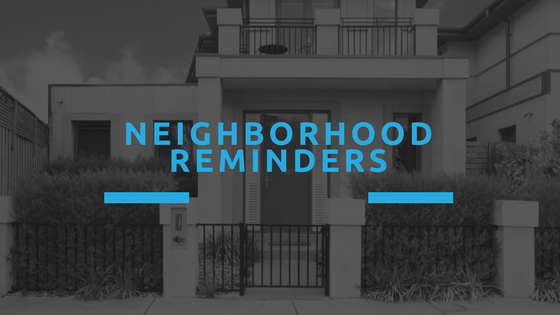 HOA Meeting Tips - Neighborhood Reminders
