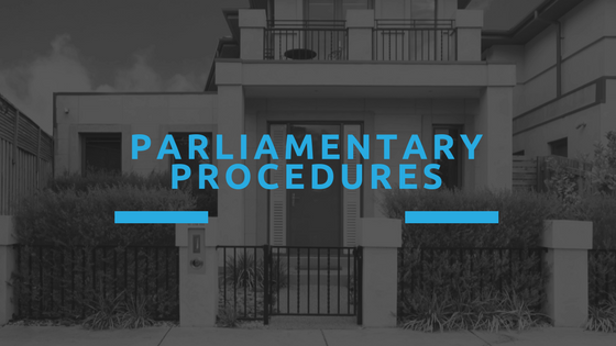 HOA Meeting Tips - Parliamentary Procedures