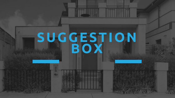 HOA Meeting Tips - Community Suggestion Box