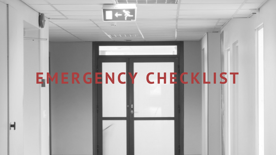 Hospital Emergency Checklist