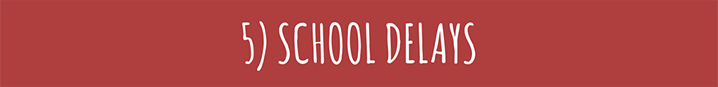 School Delays - School Safety Tips for Extreme Weather