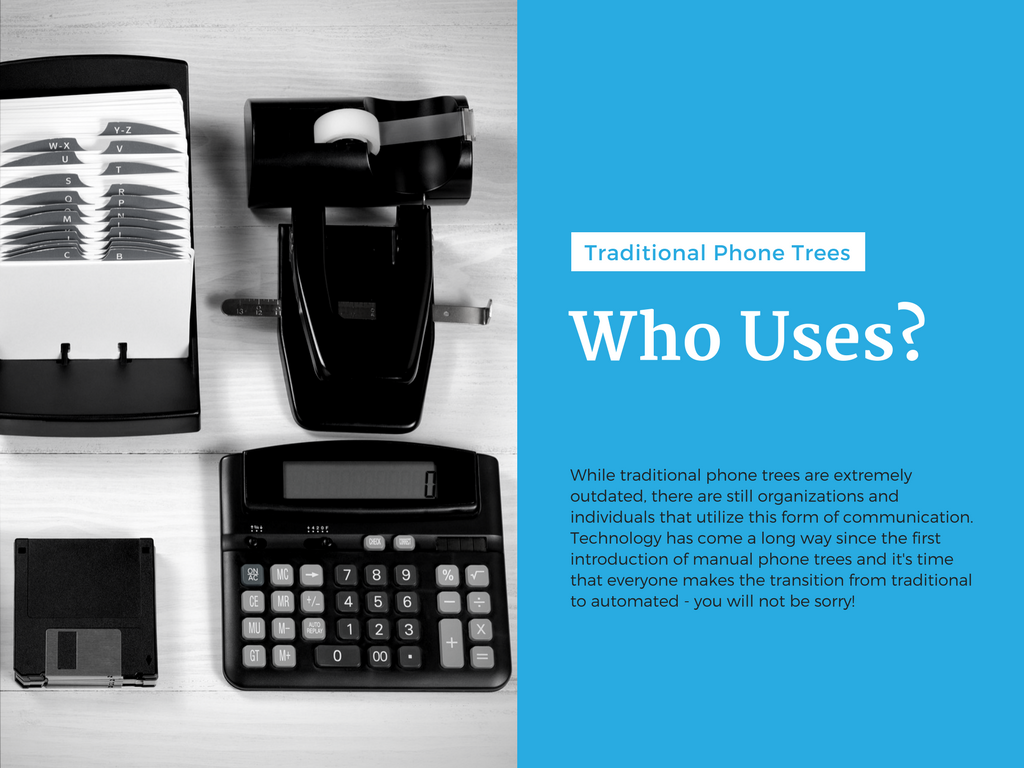 Slide Five – Who Uses Traditional Phone Trees?