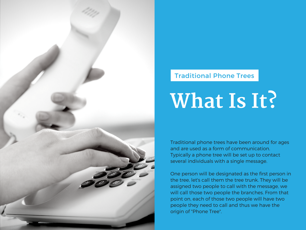 Slide Four – What Is A Traditional Phone Tree?