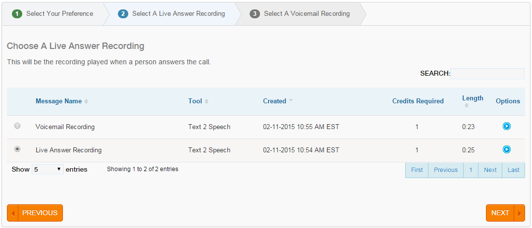 Voice Broadcasting Live Answer Recording